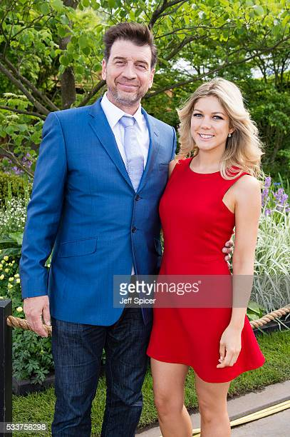 Nick Knowles and Jessica Rose Moor attend Chelsea Flower Show press day at Royal Hospital Chelsea on May 23 2016 in London England