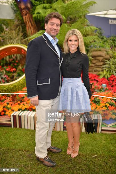Nick Knowles and Jessica Rose Moor attend the Chelsea Flower Show press and VIP preview day at Royal Hospital Chelsea on May 20 2013 in London England