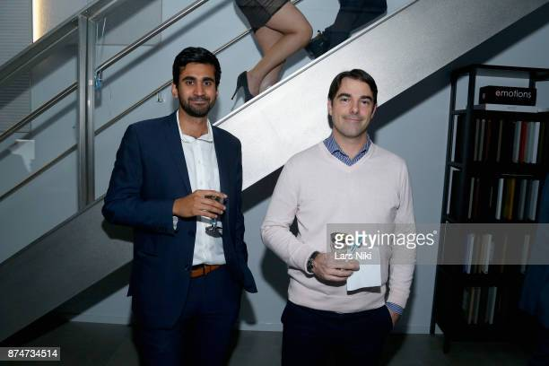 Nick Kohli and Antoine Trouve attend the Blu Perfer Blue Brut Launch Party for The 2018 8th annual Better World Awards on November 15 2017 in New...