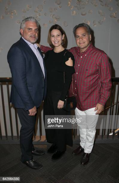 Nick Korniloff Corina Hernandez de Thermiotis and Alejandro Thermiotis attend the Art Wynwood Tony Goldman Lifetime Artistic Achievement Award...
