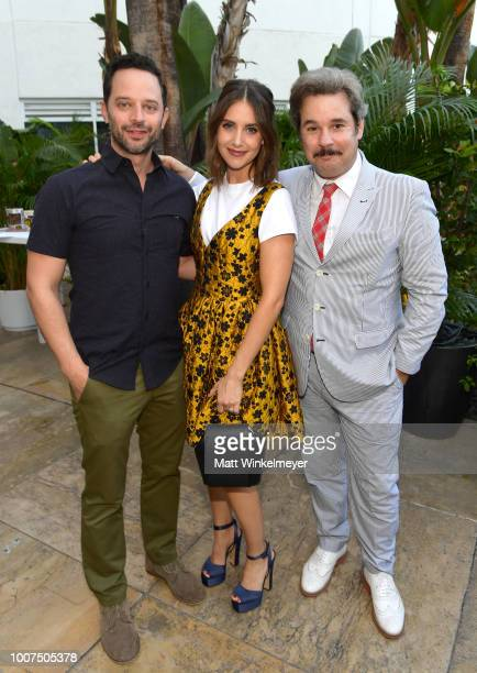 Nick Kroll Alison Brie and Paul F Tompkins attend Netflix TCA 2018 at The Beverly Hilton Hotel on July 29 2018 in Beverly Hills California