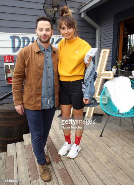 Nick Kroll and Alexi Pappas at #TwitterHouse during SXSW on March 10 2019 in Austin Texas