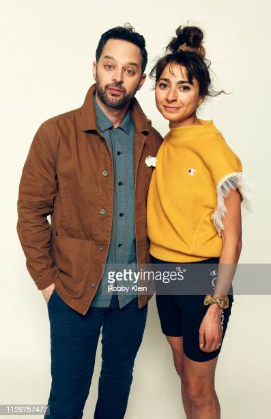 Nick Kroll and Alexi Pappas of the film 'Olympic Dreams' pose for a portrait at the 2019 SXSW Film Festival Portrait Studio on March 10 2019 in...