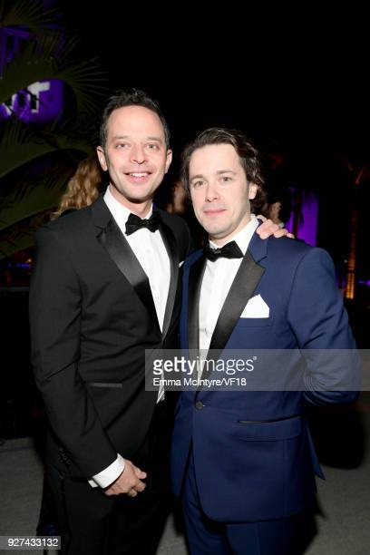 Nick Kroll and Edgar Wright attend the 2018 Vanity Fair Oscar Party hosted by Radhika Jones at Wallis Annenberg Center for the Performing Arts on...