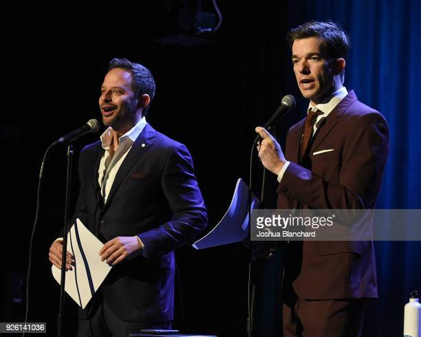 Nick Kroll and John Mulaney attend Keep It Clean To Benefit Waterkeeper Alliance on March 1 2018 in Los Angeles California