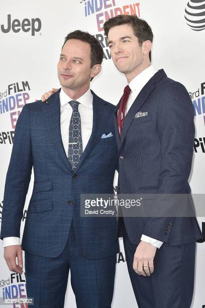 Nick Kroll and John Mulaney attend the 2018 Film Independent Spirit Awards Arrivals on March 3 2018 in Santa Monica California