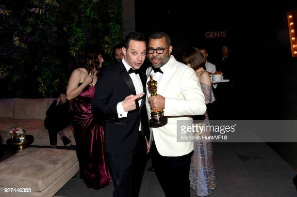 Nick Kroll and Jordan Peele attend the 2018 Vanity Fair Oscar Party hosted by Radhika Jones at Wallis Annenberg Center for the Performing Arts on...