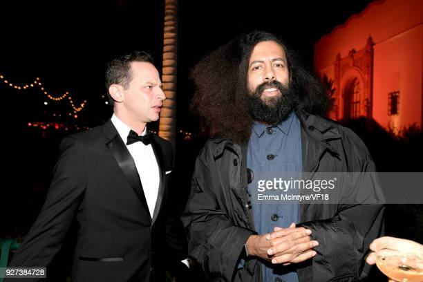 Nick Kroll and Reggie Watts attend the 2018 Vanity Fair Oscar Party hosted by Radhika Jones at Wallis Annenberg Center for the Performing Arts on...