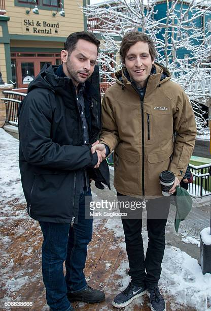 Nick Kroll and Thomas Middleditch is seen around town at the Sundance Film Festival on January 24 2016 in Park City Utah