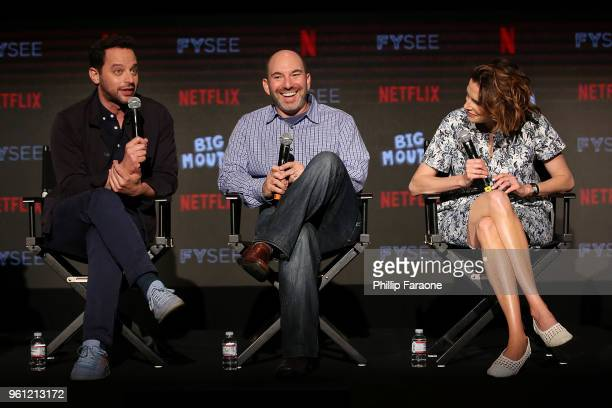 Nick Kroll Andrew Goldberg and Jessi Klein speak onstage at the #NETFLIXFYSEE Animation Panel Featuring 'Big Mouth' and 'BoJack Horseman' at Netflix...