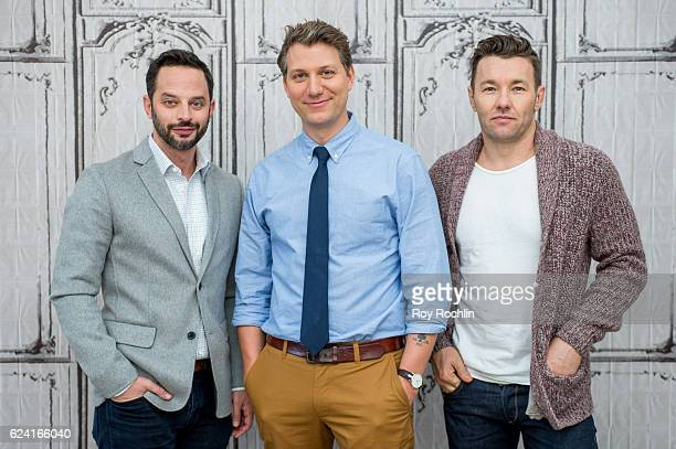 Nick Kroll Jeff Nichols and Joel Edgerton discuss 'Loving' with The Build Series at AOL HQ on November 18 2016 in New York City