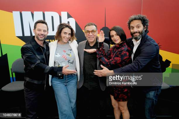 Nick Kroll, Jessi Klein, Fred Armisen, Jenny Slate, and Jason Mantzoukas of 'Big Mouth' attend IMDb at New York Comic Con - Day 1 at Javits Center on...
