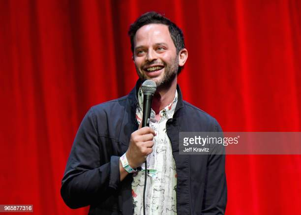 Nick Kroll performs on the Bill Graham Stage during Clusterfest at Civic Center Plaza and The Bill Graham Civic Auditorium on June 1 2018 in San...