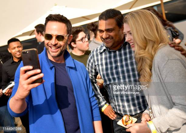 Nick Kroll poses for a photo with fans at the Netflix Adult Animation QA and Reception on April 20 2019 in Hollywood California