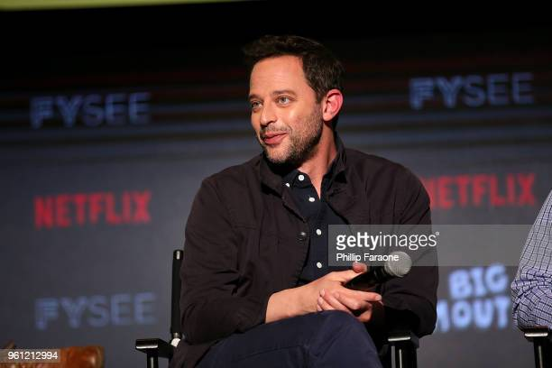 Nick Kroll speaks onstage at the #NETFLIXFYSEE Animation Panel Featuring 'Big Mouth' and 'BoJack Horseman' at Netflix FYSEE at Raleigh Studios on May...