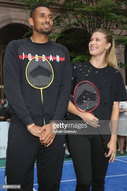Nick Kyrgios and Eugenie Bouchard attend 2017 Lotte New York Palace Invitational at Lotte New York Palace on August 24 2017 in New York City