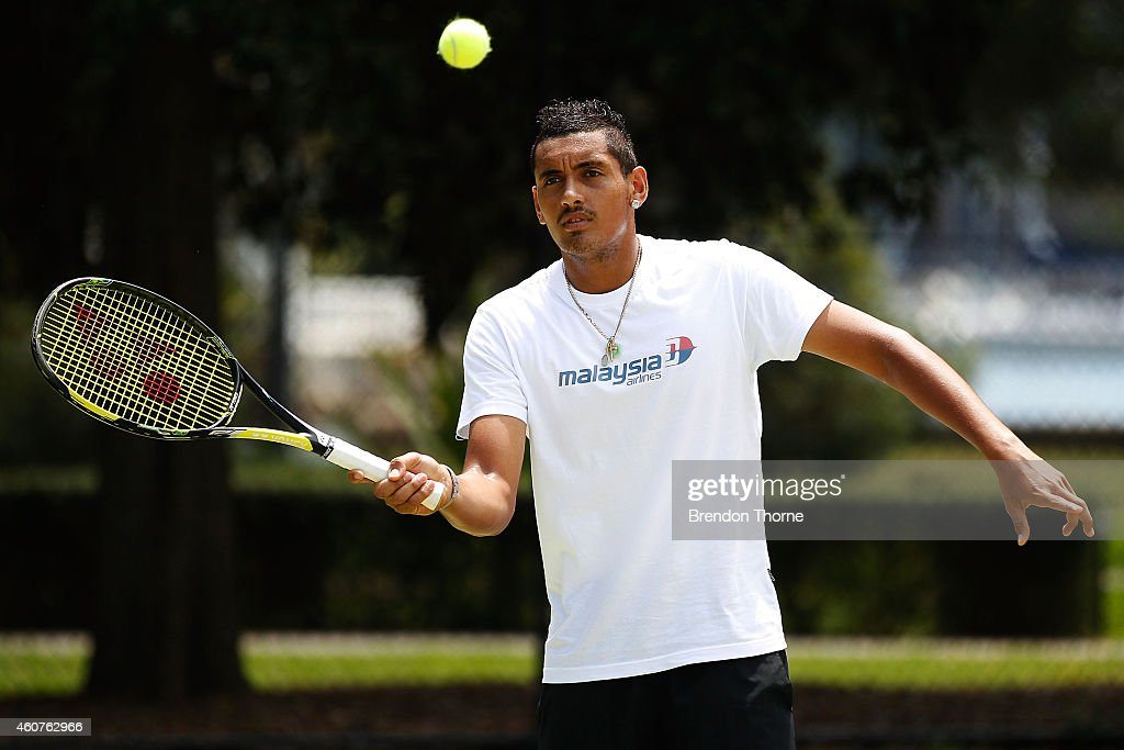 Malaysia Airlines Partners With Nick Kyrgios : News Photo