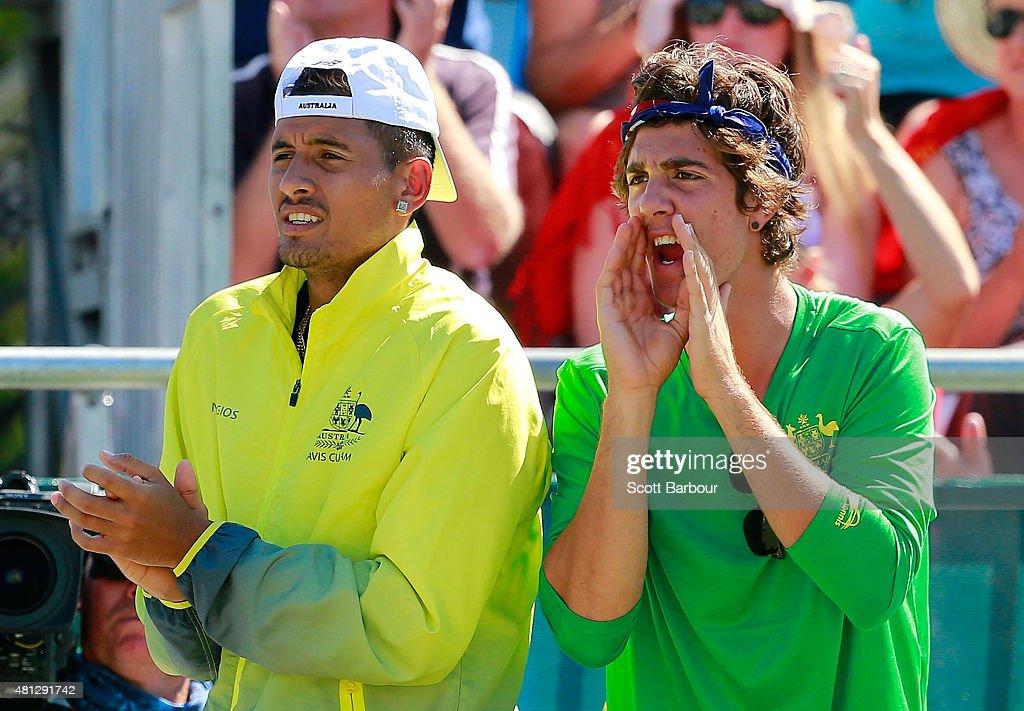 Australia v Kazakhstan - Davis Cup: Day 3 : News Photo