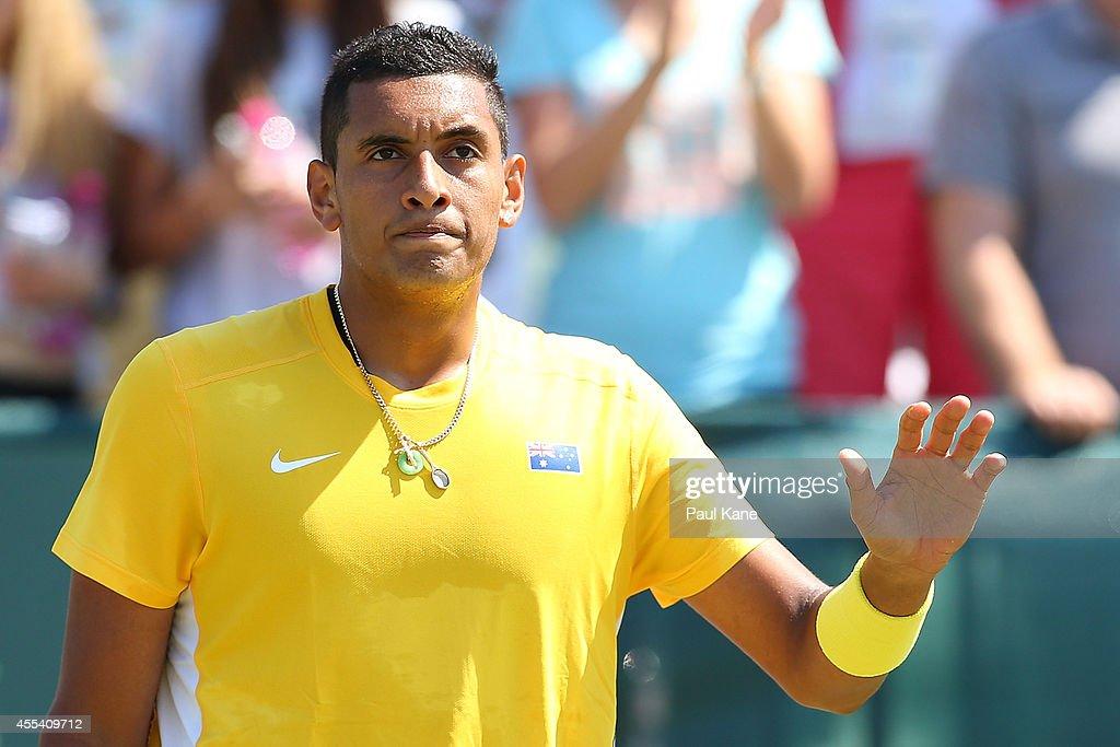 Australia v Uzbekistan - Davis Cup World Group Play-off : News Photo