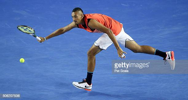 Nick Kyrgios of Australia during his third round match against Tomas Berdych of Czech Republic on day five of the 2016 Australian Open at Melbourne...