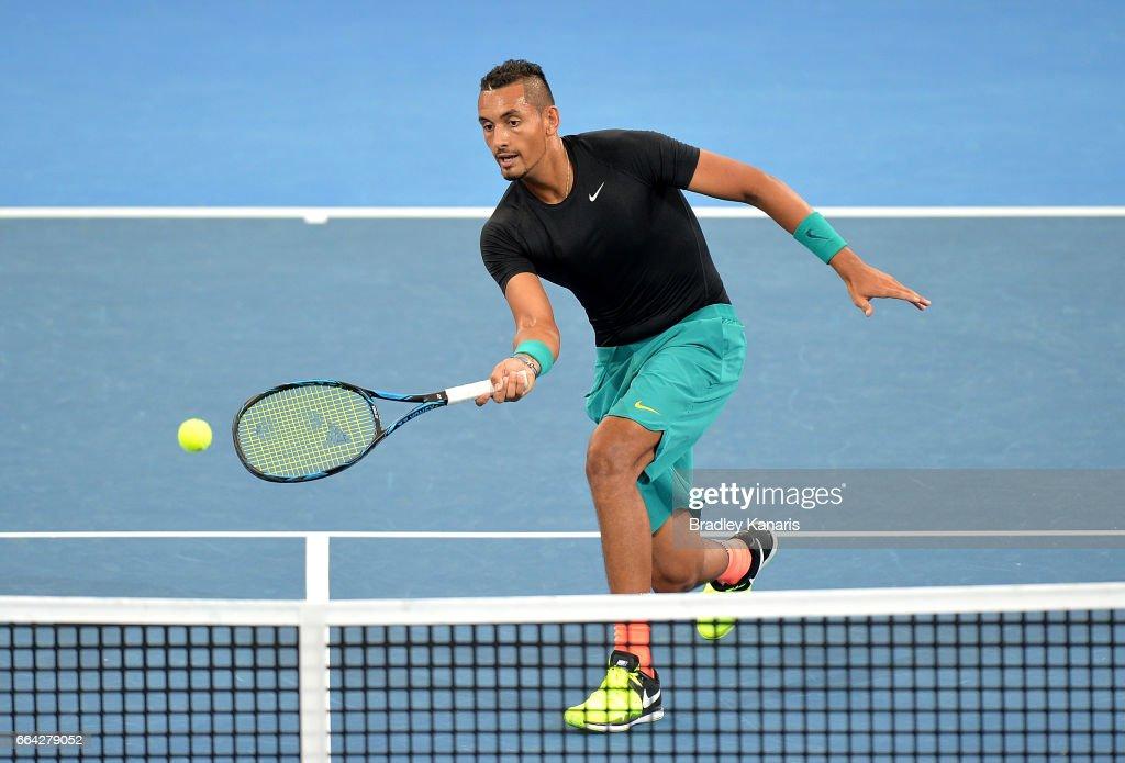 Australia v USA - Davis Cup World Group Quarterfinals: Press Conference & Practice Session : News Photo