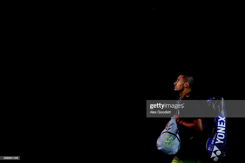 Nick Kyrgios of Australia takes the court for his third round Men's Singles match against Illya Marchenko of Ukraine on Day Six of the 2016 US Open at the USTA Billie Jean King National Tennis Center on September 3, 2016 in the Flushing neighborhood of the Queens borough of New York City.