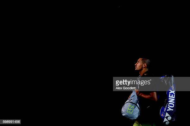 Nick Kyrgios of Australia takes the court for his third round Men's Singles match against Illya Marchenko of Ukraine on Day Six of the 2016 US Open...