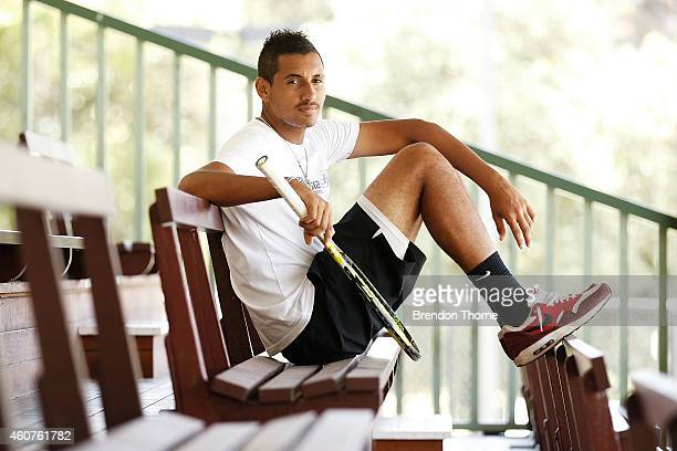 Nick Kyrgios poses during the announcement of the partnership between Malaysian Airlines and Australian tennis player Nick Kyrgios at Rushcutters Bay...
