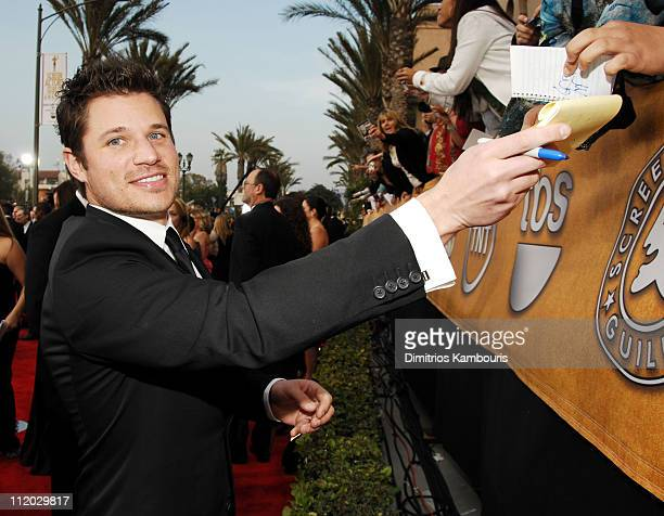 Nick Lachey 10612_dk0213.JPG during TNT Broadcasts 12th Annual Screen Actors Guild Awards - Red Carpet at Shrine Expo Hall in Los Angeles,...