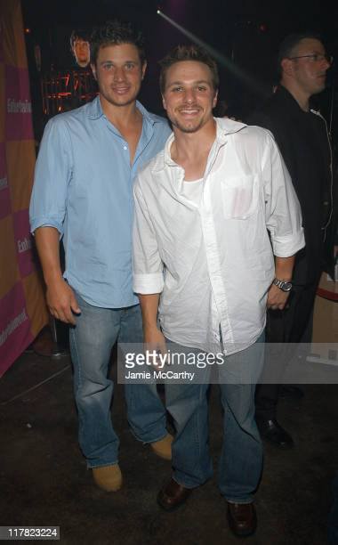 Nick Lachey and Drew Lachey during Entertainment Weekly's Celebration of The Must List The 137 People Things We Love This Summer Issue PreShow at...
