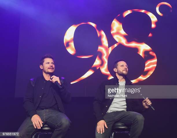 Nick Lachey and Drew Lachey of 98 Degrees performs at 1035 KTU's KTUphoria on June 16 2018 in Wantagh City