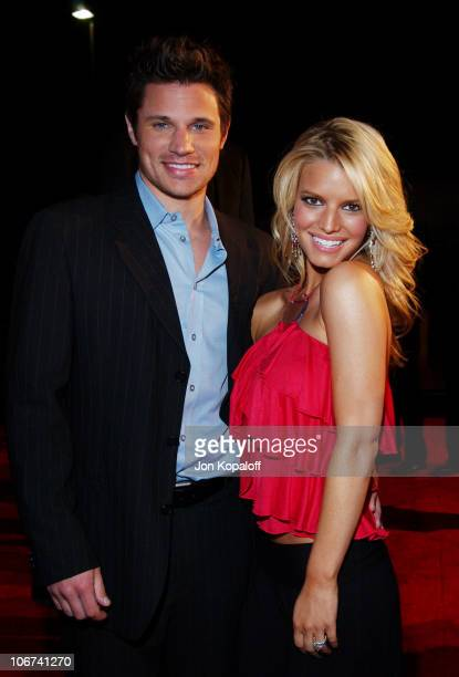 Nick Lachey and Jessica Simpson arriving at the Official TipOff to NBA AllStar 2004 Entertainment American Express Celebrates the Rewarding Life of...