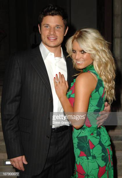 Nick Lachey and Jessica Simpson during Gucci Spring 2006 Fashion Show to Benefit Children's Action Network and Westside Children's Center - Arrivals...