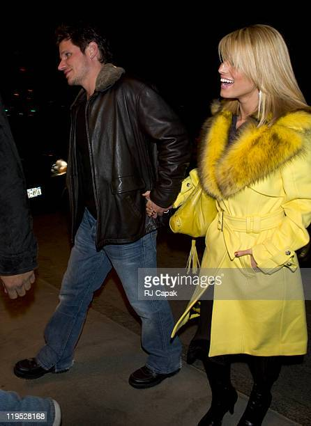 Nick Lachey and Jessica Simpson during Jessica Simpson and Ashlee Simpson Sighting in New York City March 14 2005 at On The Streets of Manhattan in...