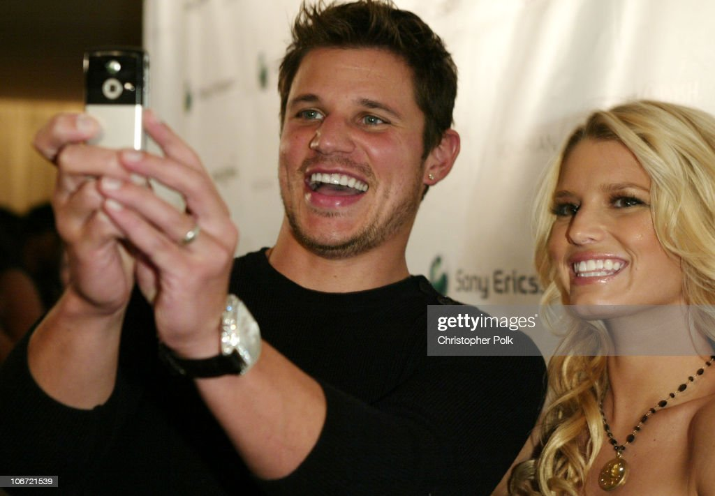 Jessica Simpson and Nick Lachey Host Sony Ericsson T610/T616 Shoot for the