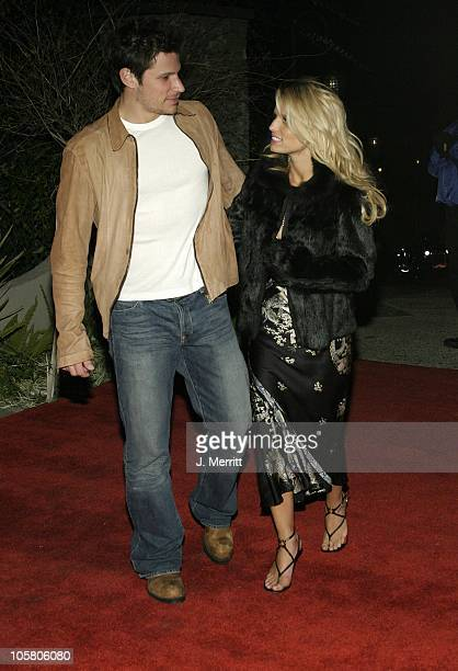 Nick Lachey and Jessica Simpson during The 46th Annual Grammy Awards Outkast Speakerboxxx After Party at Private Location in Beverly Hills California...
