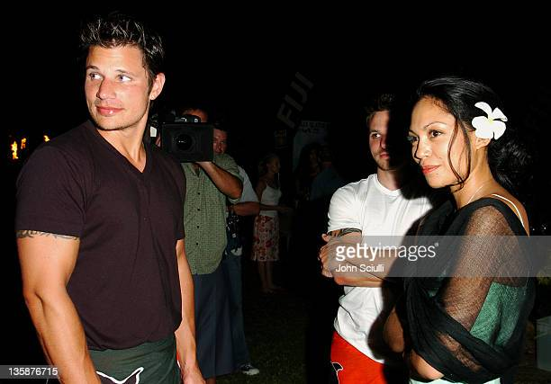 Nick Lachey and Lisa Ann Cabasa during Kelly Slater Invitational Fiji Day 2 Fijian Welcome Ceremony and Dinner at Sheraton Resorts Denarau Island in...
