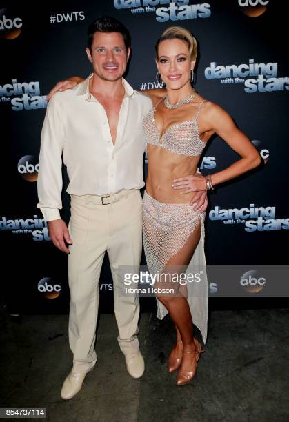 Nick Lachey and Peta Murgatroyd attend 'Dancing With The Stars' season 25 taping at CBS Televison City on September 26 2017 in Los Angeles California