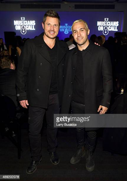 Nick Lachey and Pete Wentz attend Musicians On Call Celebrates Its 15th Anniversary Honoring Kelly Clarkson and EVP of Republic Records, Charlie Walk...