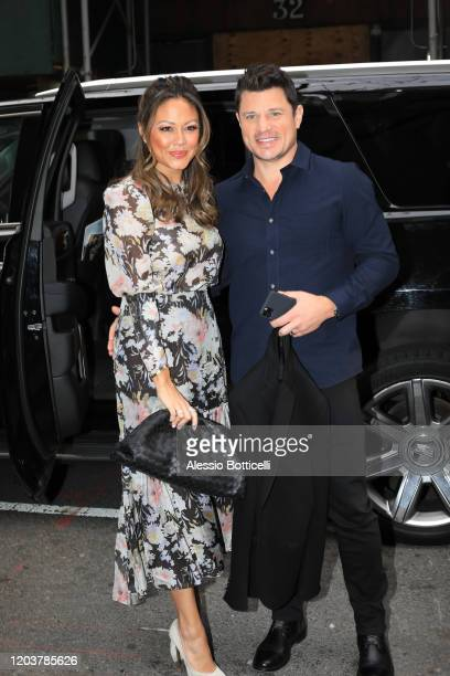 Nick Lachey and Vanessa Lachey are seen at 'Today' TV Show on February 03 2020 in New York City