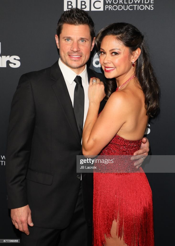 Nick Lachey and Vanessa Lachey attend the 'Dancing With The Stars' Season 25 Finale on November 21, 2017 in Los Angeles, California.