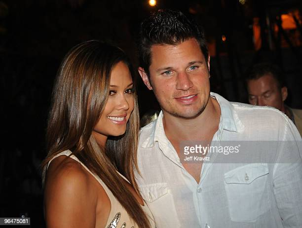 Nick Lachey and Vanessa Minnillo attend The Maxim Party 2010 at The Raleigh on February 6, 2010 in Miami, Florida.