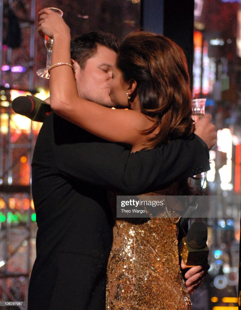 Nick Lachey and Vanessa Minnillo during MTV Goes Gold: New Year's Eve 2007 Live at MTV's Times Square Studios at MTV Studios in New York City, New York, United States.