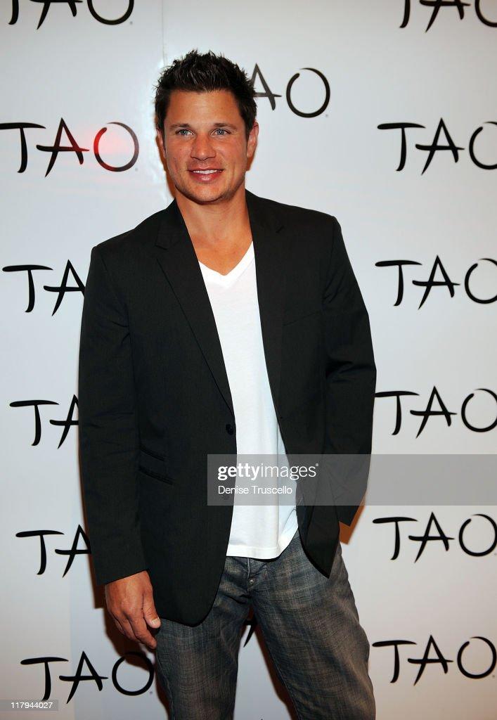 Nick Lachey Celebrates His Batchelor Party At TAO Nightclub
