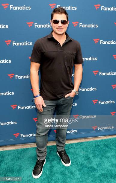 Nick Lachey attends Michael Rubin's Fanatics Super Bowl Party at Loews Miami Beach Hotel on February 01 2020 in Miami Beach Florida