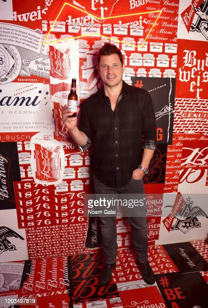Nick Lachey attends Night Two of BUDX Miami by Budweiser on February 02 2020 in Miami Beach Florida