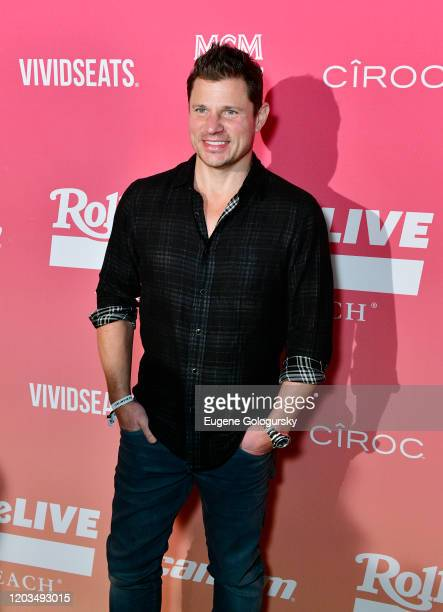 Nick Lachey attends the MCM x Rolling PreSuper Bowl Event at SLS Miami on February 02 2020 in Miami Florida