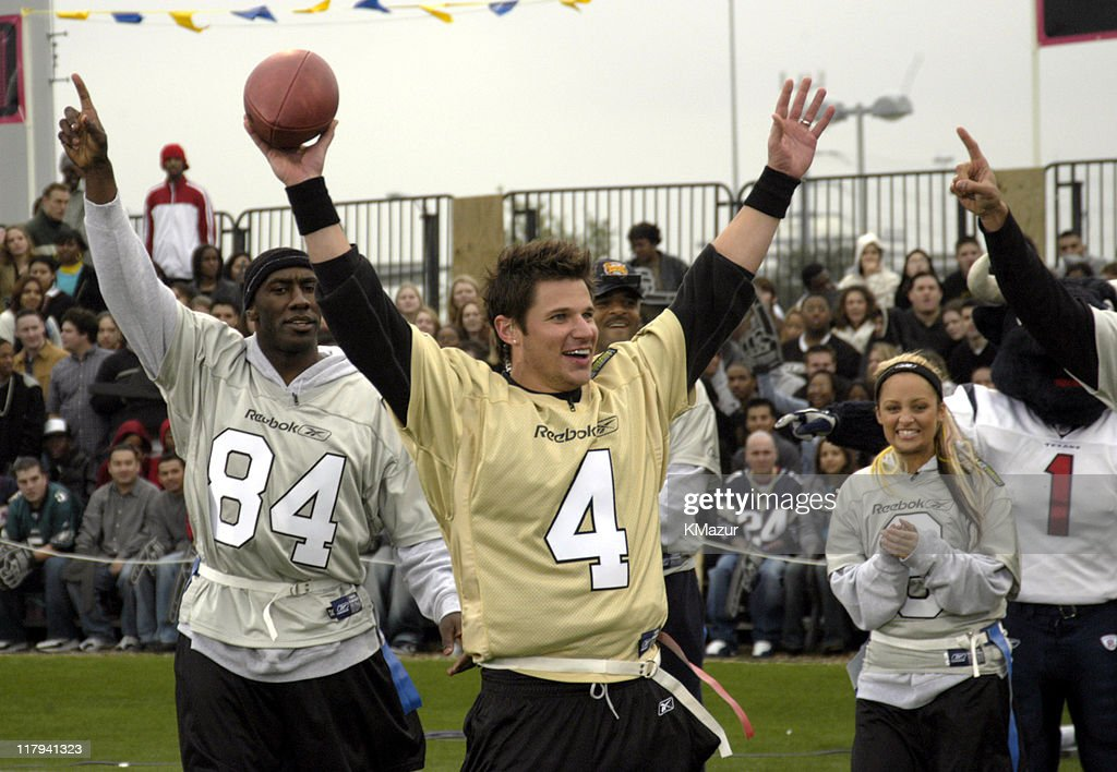 Nick Lachey during MTV's Rock N Jock Super Bowl XXXVIII at MTV Compound Near Reliant Stadium in Houston, Texas, United States.
