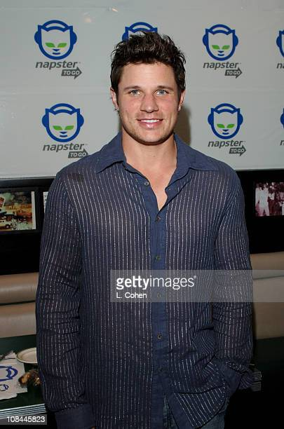 """Nick Lachey during Napster To Go Cafe Comes to Los Angeles with Free Digital Music and MP3 Player Giveaways at """"Napster To Go Cafe"""" AKA Mel's..."""