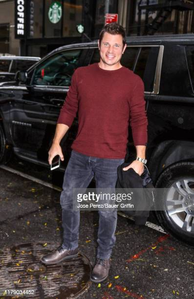 Nick Lachey is seen arriving at 'Today' show on October 30 2019 in New York City